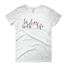In love with life by in love with life, ash white short sleeve ladies