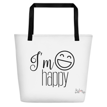 I'm happy by in love with life, bag, black handle
