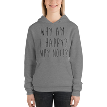 Why am I happy? Why not!? by In love with life, hoodie/ sweatshirt ladies, dark heather