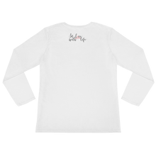 Life is just more fun when you choose to be happy by in love with life, white long sleeve ladies back