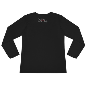 Why hold grudges if you could be in a good mood instead? by in love with life, black long sleeve ladies back