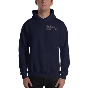 In love with life by In love with life, hoodie/ sweatshirt navy gentlemen, small logo in love with life