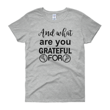 And what are you grateful for? by in love with life, grey short sleeve ladies