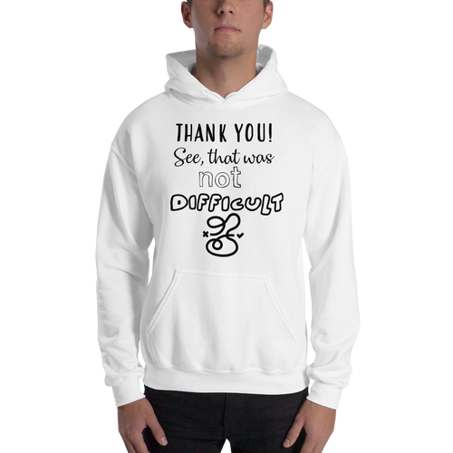 THANK YOU! See, that was not that difficult by in love with life, gentlemen hoodie/ sweatshirt white