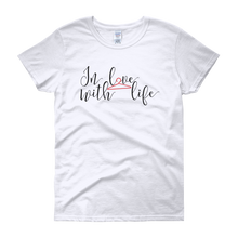 In love with life by in love with life, white short sleeve ladies
