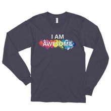 I am awesome by in love with life, asphalt long sleeve gentleman