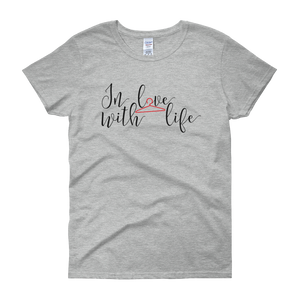 In love with life by in love with life, grey short sleeve ladies