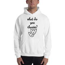 What do you choose? by in love with life, hoodie/ sweatshirt gentleman white