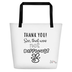 THANK YOU! See, that was not that difficult by in love with life, black handle bag