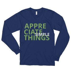 Appreciate simple things by in love with life, navi blue long sleeve gentleman