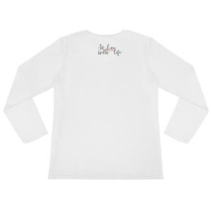If you love yourself, you will love your life by in love with life, white long sleeve ladies back