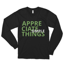 Appreciate simple things by in love with life, black long sleeve gentleman