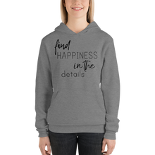 Find happiness in the details by In love with life, hoodie/ sweatshirt ladies dark heather