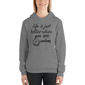 Life is just better when you are smiling by In love with life, hoodie/ sweatshirt ladies, deep heather