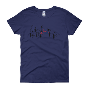 In love with life by in love with life, coablt blue short sleeve ladies