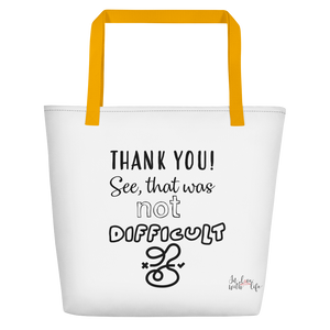 THANK YOU! See, that was not that difficult by in love with life, yellow handle bag