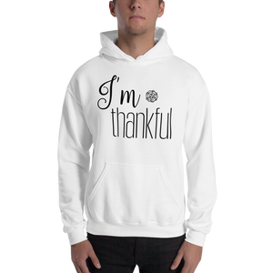I'm thankful by in love with life, hoodie/ sweatshirt gentlemen white