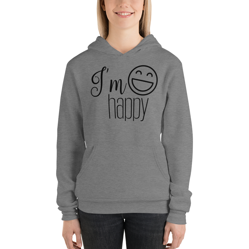 I'm happy by In love with life hoodie/ sweatshirt ladies, deep heather