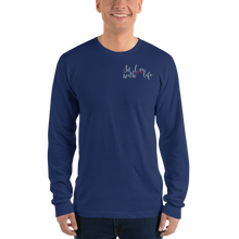 In love with life by In love with life, long sleeve shirt gentlemen, navy, small logo in love with life