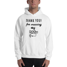 Thank you for crossing my path by in love with life, hoodie/ sweatshirt gentlemen white