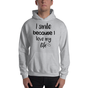 I smile because I love my life by In love with life, hoodie/ sweatshirt gentlemen grey