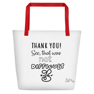 THANK YOU! See, that was not that difficult by in love with life, red handle bag