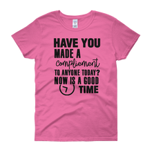 Have you made a compliment to anyone today? NOW is a good time by in love with life,pink short sleeve ladies