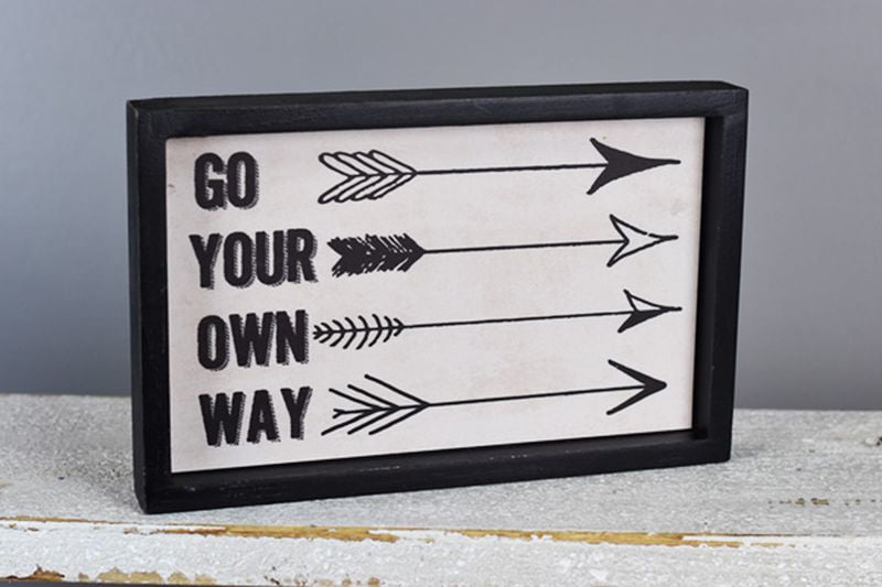 Own Way Sign