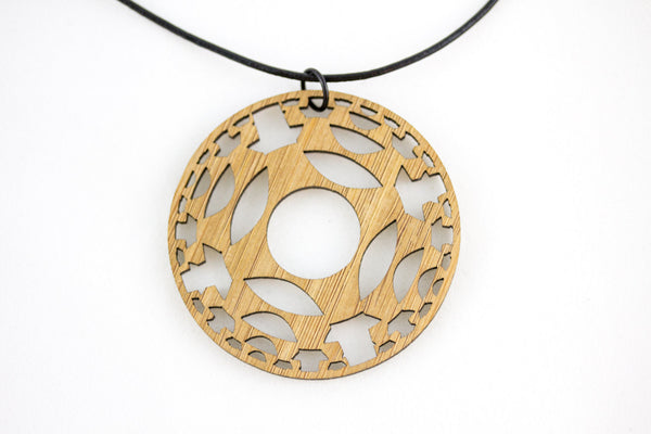Geometric Big Round Necklace