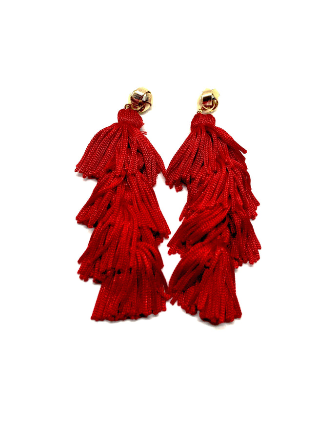 Reddy or Not Tassel Earrings