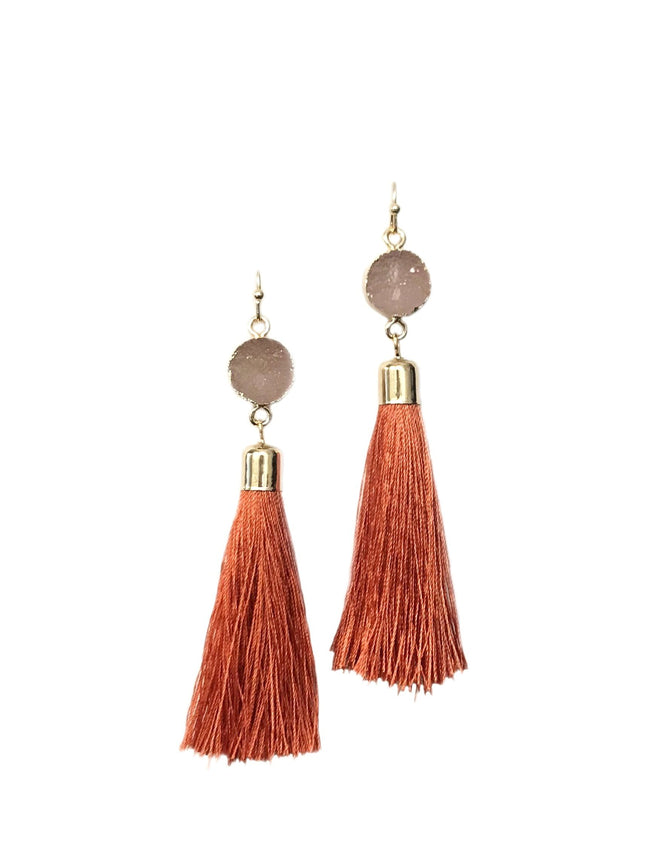 Burnt Orange Tassels