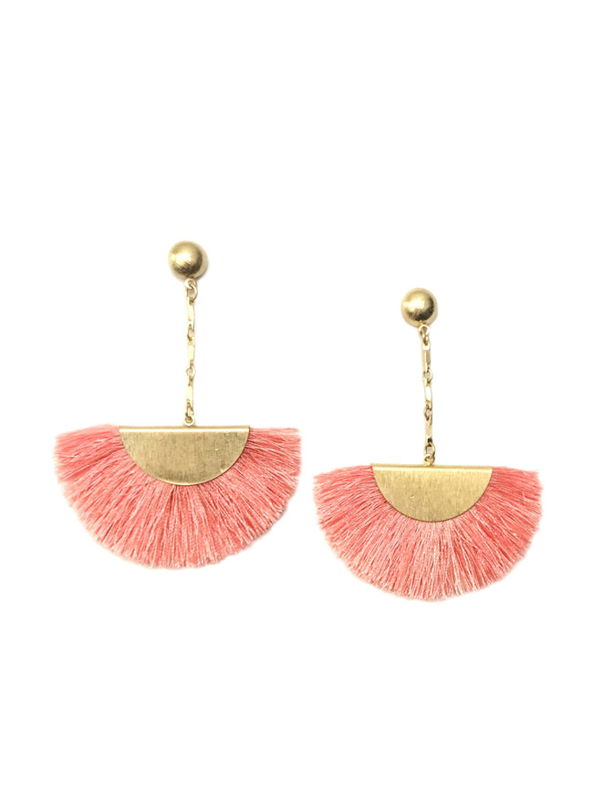 Peach Fringe Earrings