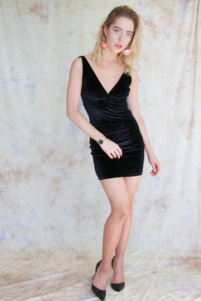 Distractions Velvet Mini Dress