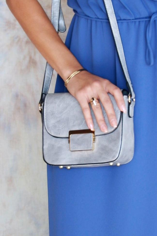 Small Structured Silver Bag