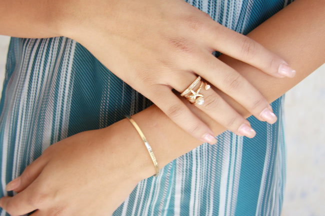 Pearly Beach Rings