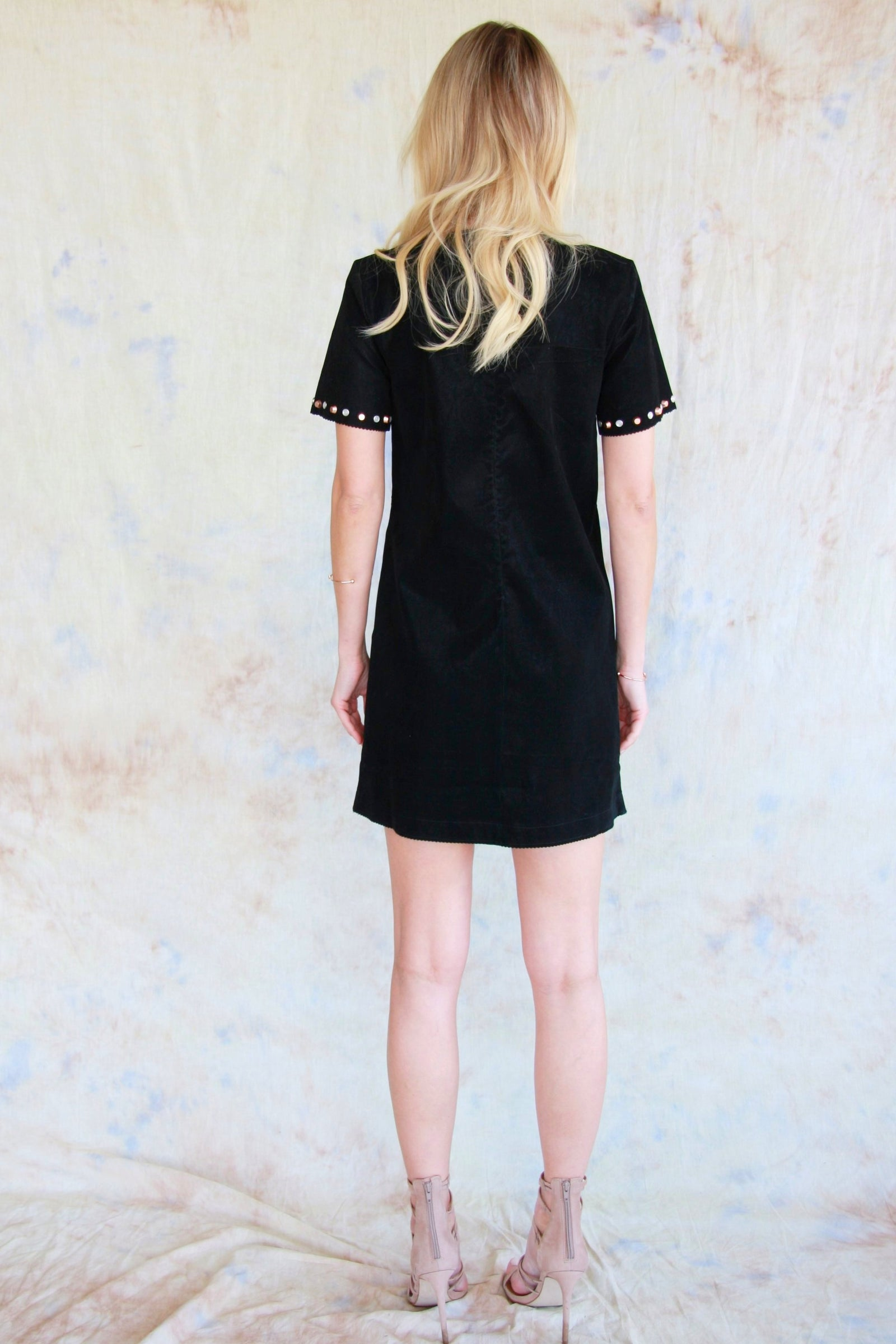 Suede Stud Dress