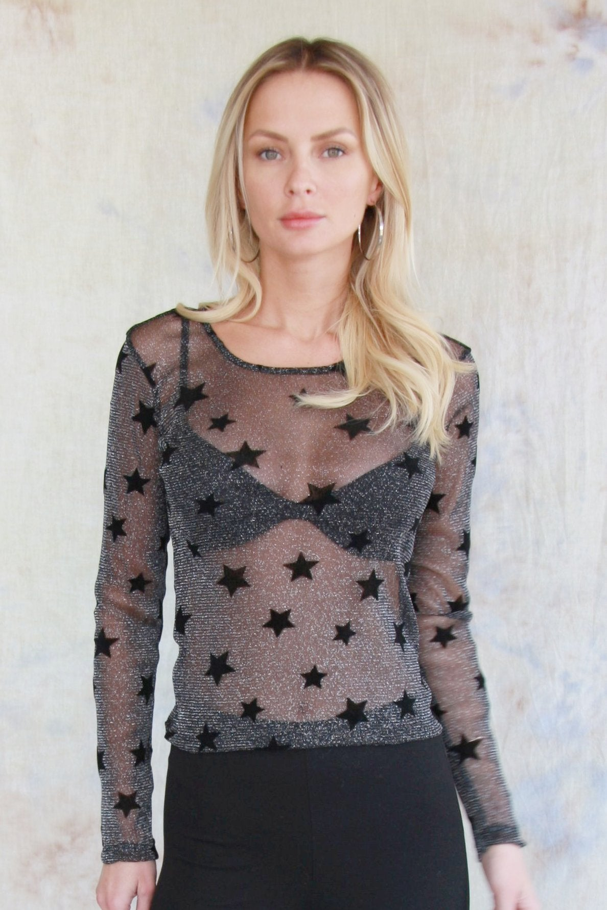 Sheer Starry Long Sleeve