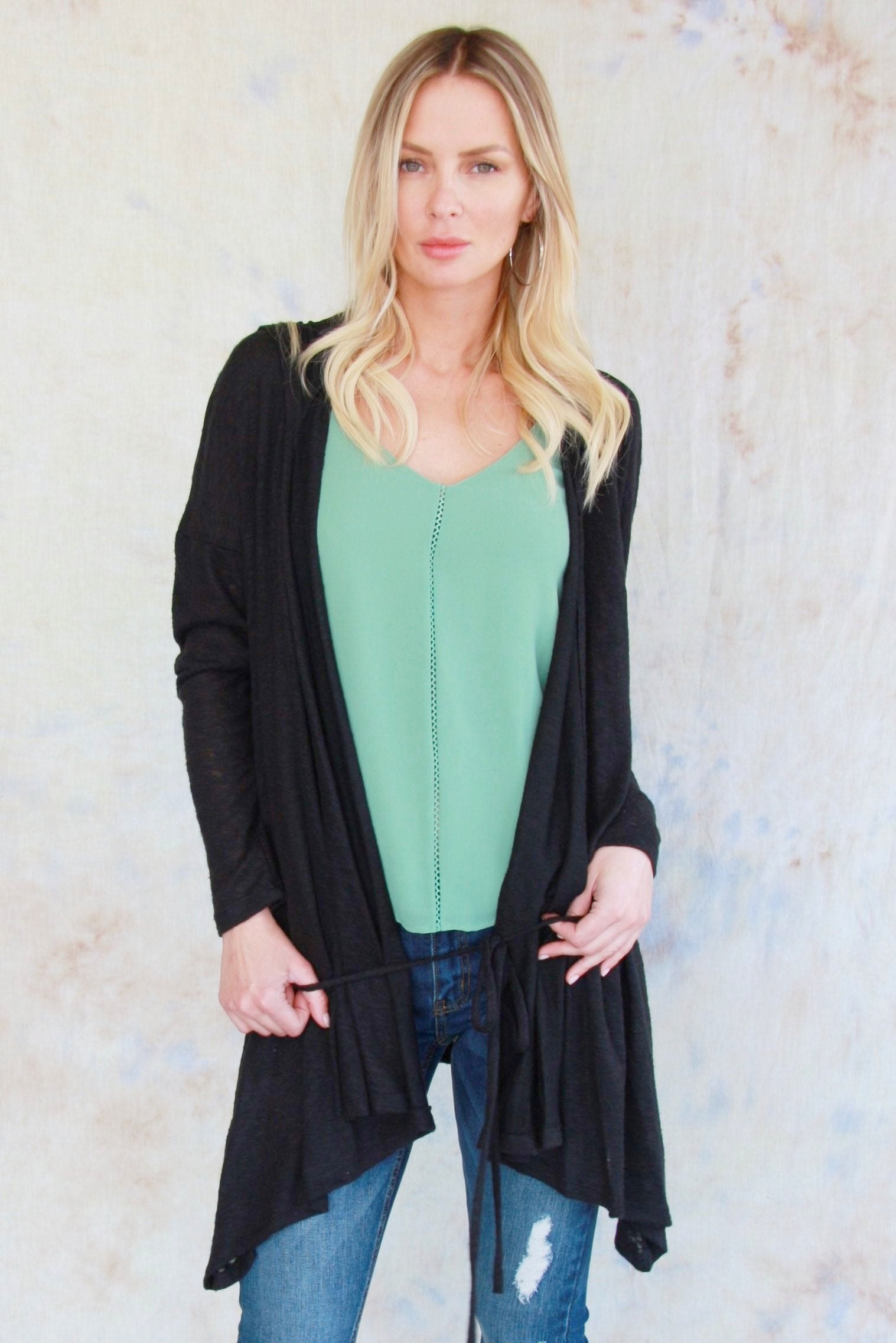 Brushed Long Cardigan