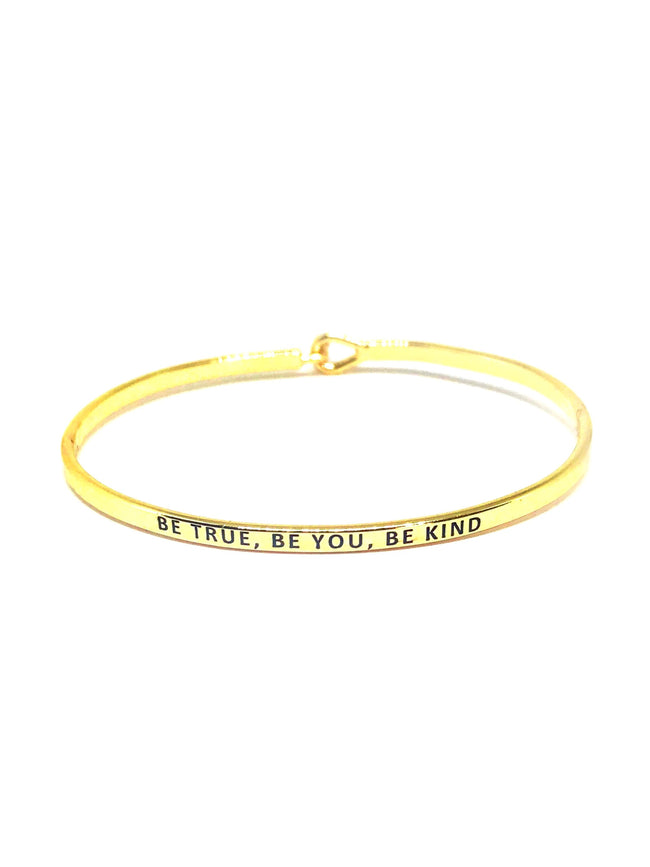 Be True, Be You, Be Kind Bracelet