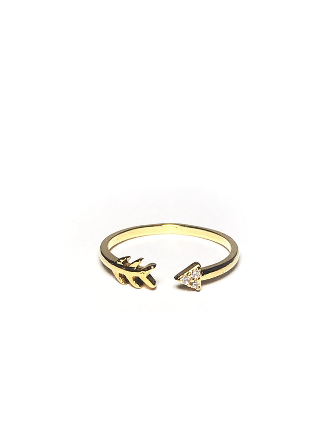 Open Arrow Ring - Mott and Prince