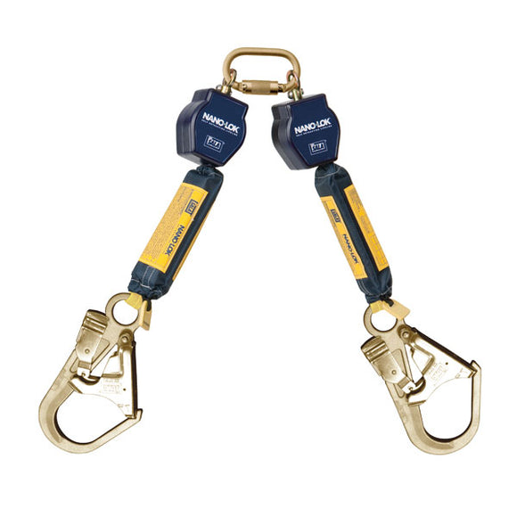 3101288 - DBI-SALA Nano-Lok Dual Leg Self Retracting Lifeline - Rebar Hooks - 6 ft.