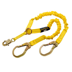 DBI-SALA ShockWave 2 Dual Leg Lanyard w/ D-Ring & Rebar Hooks - 6 ft.