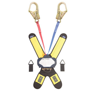 DBI-SALA Talon Red/Blue Twin Leg Retractable w/ Rebar Hooks - 6 ft.