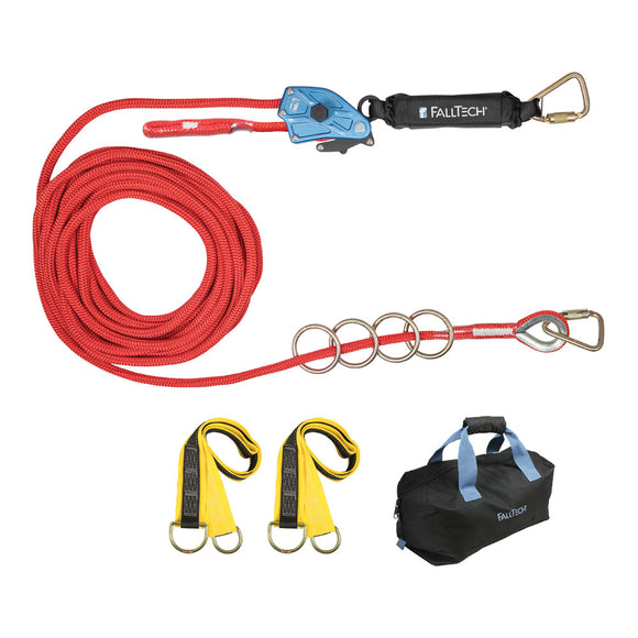 FallTech 4-Person Temporary Horizontal Lifeline System - 100 ft.