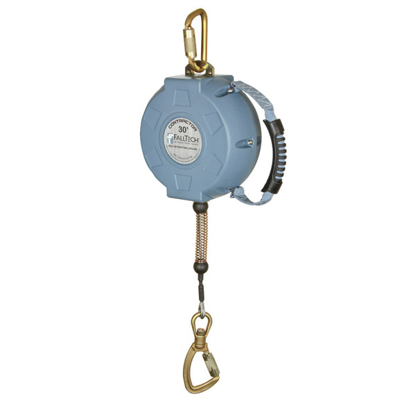 FallTech Contractor Steel Cable Retractable Lifeline - 30 ft.