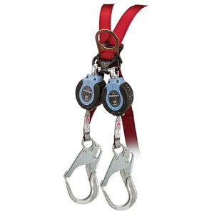 FallTech DuraTech 6 ft. Dual Leg Self-Retracting Device w/ Aluminum Rebar Hook
