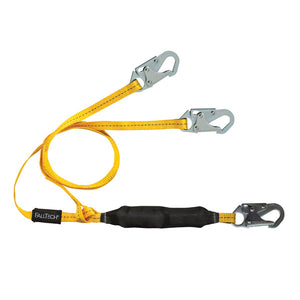 FallTech FT Basic 100% Tie-Off Shock Absorbing Lanyard - 6 ft.