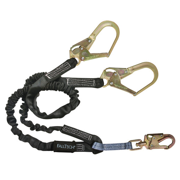 FallTech Heavyweight 100% Tie-Off Shock Absorbing Lanyard w/ Rebar Hooks - 6 ft.