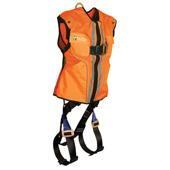 FallTech Hi-Vis Orange Mesh Vest Harness