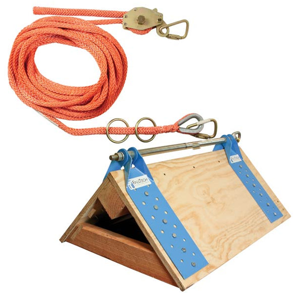FallTech 2-person Temporary Horizontal Lifeline Roof Truss System